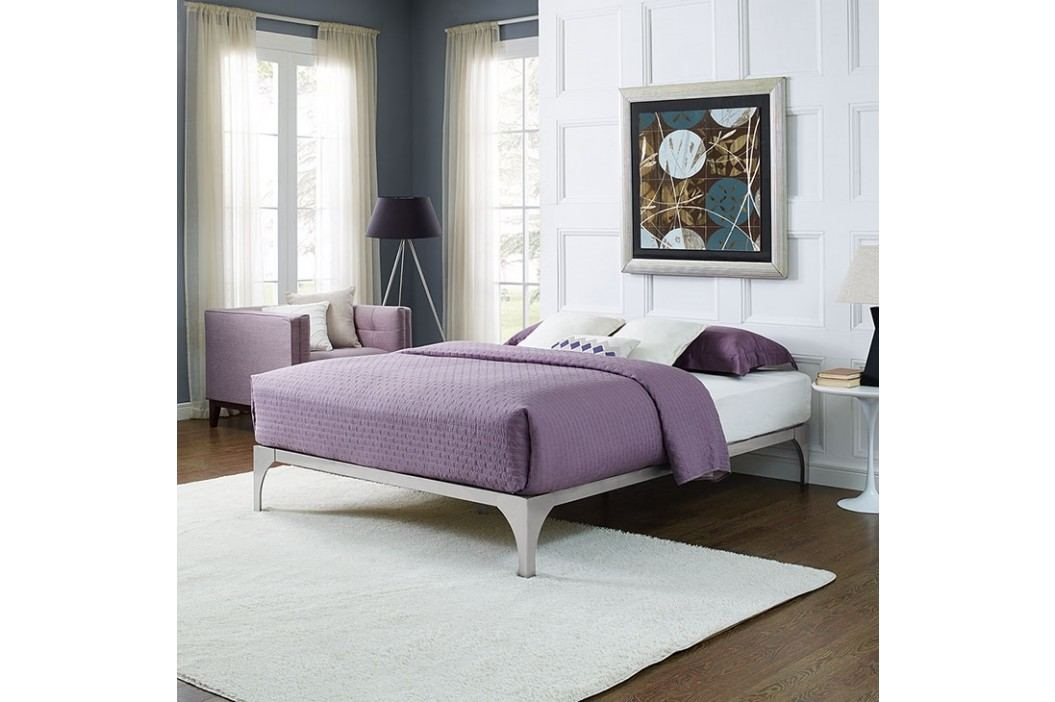 Ollie Queen Bed Frame in Silver Beds