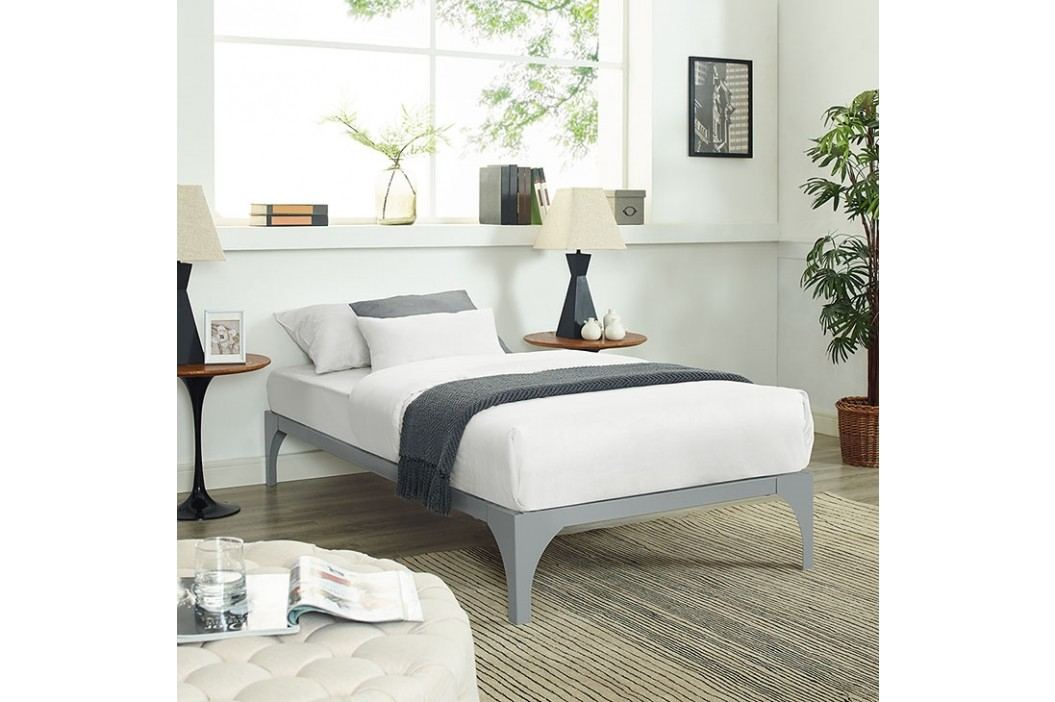 Ollie Twin Bed Frame in Gray Beds