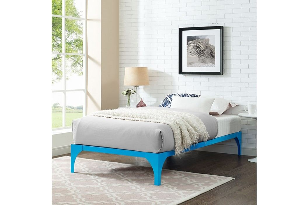 Ollie Twin Bed Frame in Light Blue Beds