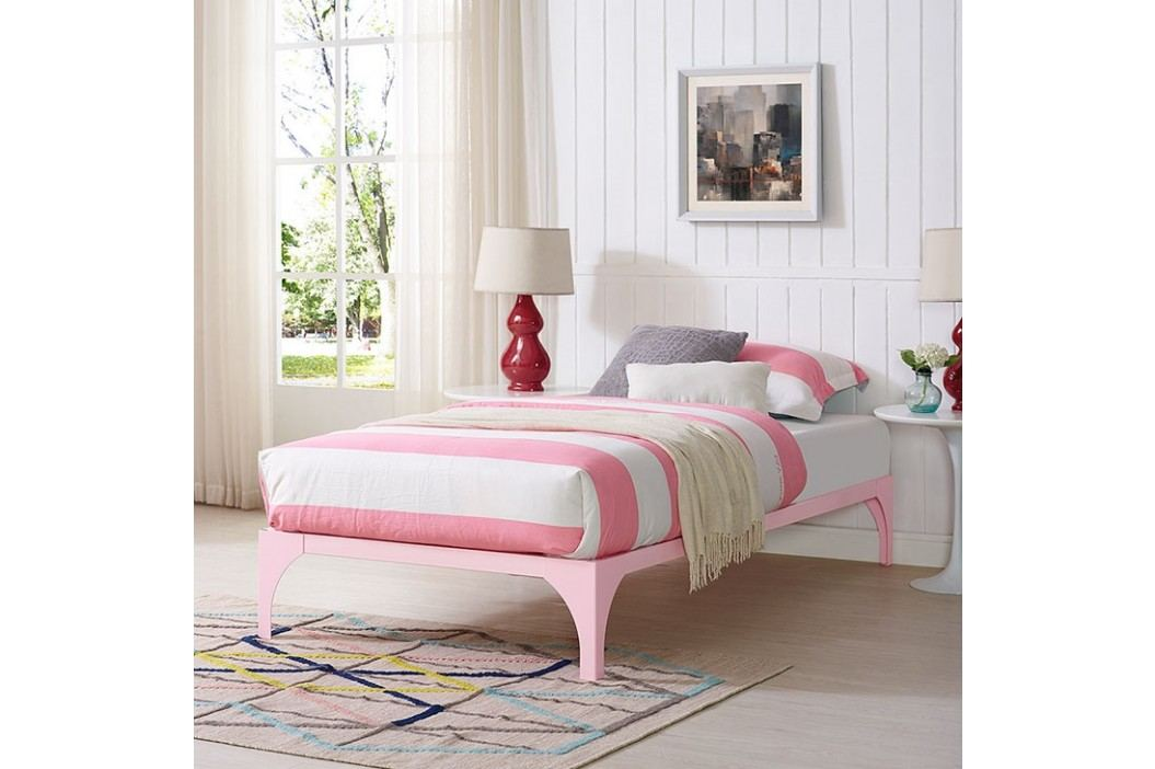 Ollie Twin Bed Frame in Pink Beds