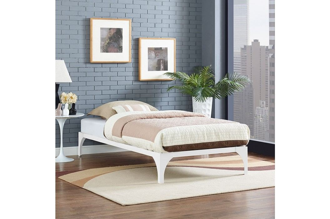 Ollie Twin Bed Frame in White Beds
