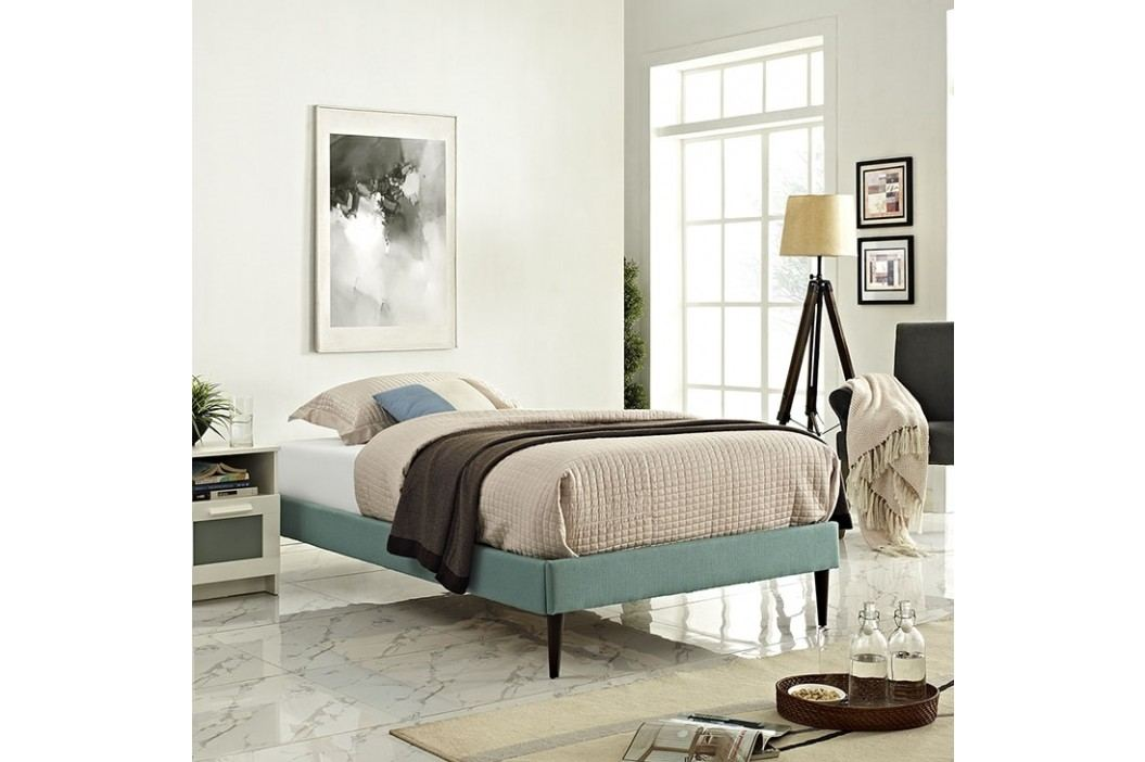 Sherry Twin Fabric Bed Frame with Round Tapered Legs in Laguna Beds