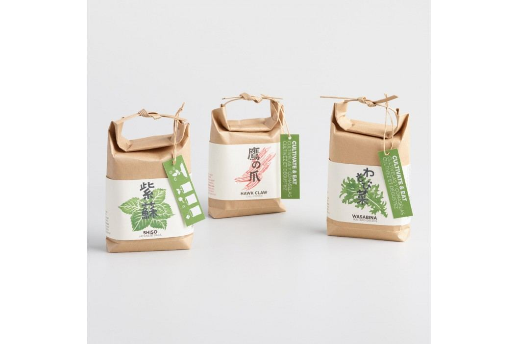 Cultivate and Eat Japanese Seed Growing Kits Set of 3 by World Market Decor