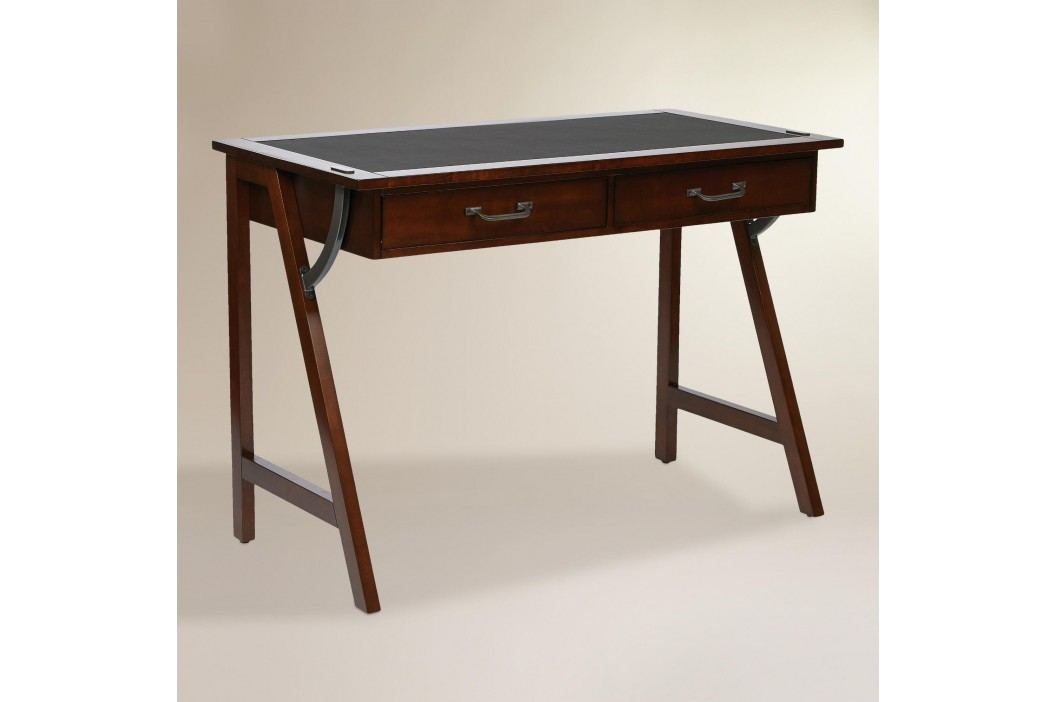 Wood Darcel Writing Desk: Brown by World Market Office Desks