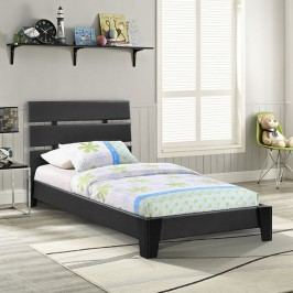 Zoe Twin Vinyl Bed in Black