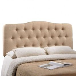 Annabel Queen Fabric Headboard in Beige