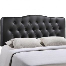 Annabel Queen Vinyl Headboard in Black