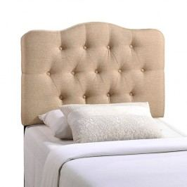 Annabel Twin Fabric Headboard in Beige