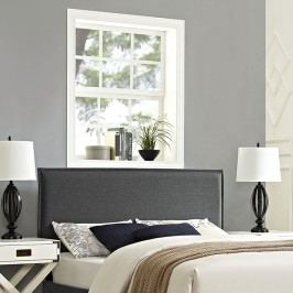 Camille Full Fabric Headboard in Gray