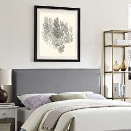 Camille King Fabric Headboard in Light Gray