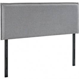 Camille Queen Fabric Headboard in Light Gray