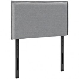 Camille Twin Fabric Headboard in Light Gray