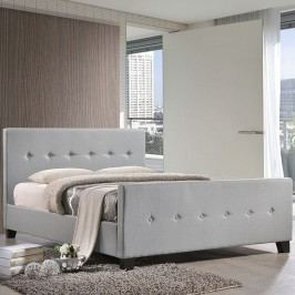 Abigail Queen Bed in Sky Gray