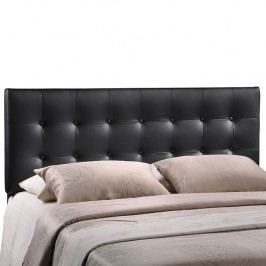 Emily Queen Vinyl Headboard in Black