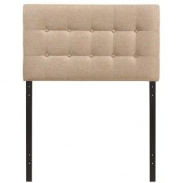 Emily Twin Fabric Headboard in Beige