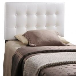 Emily Twin Vinyl Headboard in White