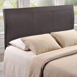 Isabella Queen Vinyl Headboard in Brown