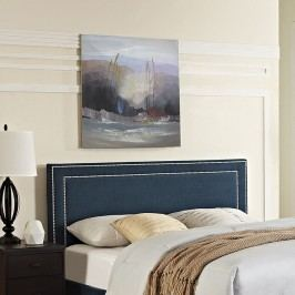 Jessamine King Fabric Headboard in Azure