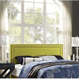 Jessamine King Fabric Headboard in Wheatgrass