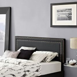 Jessamine King Vinyl Headboard in Black