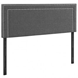 Jessamine Queen Fabric Headboard in Gray