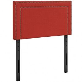 Jessamine Twin Fabric Headboard in Atomic Red