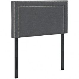 Jessamine Twin Fabric Headboard in Gray