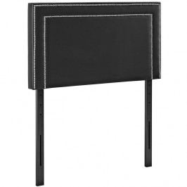 Jessamine Twin Vinyl Headboard in Black