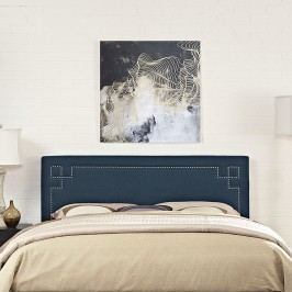 Josie King Fabric Headboard in Azure