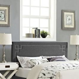 Josie King Fabric Headboard in Gray