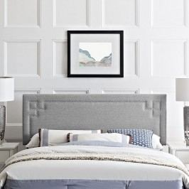 Josie King Fabric Headboard in Light Gray