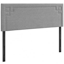 Josie Queen Fabric Headboard in Light Gray