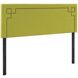 Josie Queen Fabric Headboard in Wheatgrass