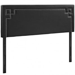 Josie Queen Vinyl Headboard in Black