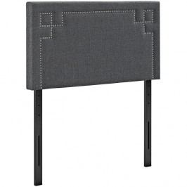 Josie Twin Fabric Headboard in Gray