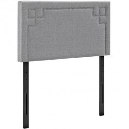 Josie Twin Fabric Headboard in Light Gray