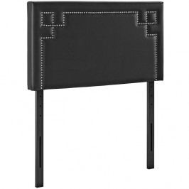 Josie Twin Vinyl Headboard in Black