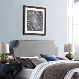 Laura King Fabric Headboard in Light Gray