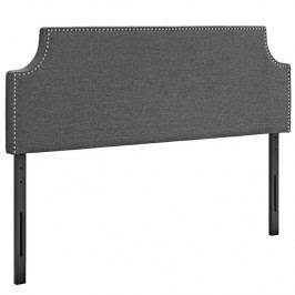 Laura Queen Fabric Headboard in Gray