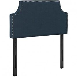 Laura Twin Fabric Headboard in Azure