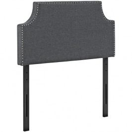 Laura Twin Fabric Headboard in Gray
