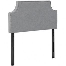 Laura Twin Fabric Headboard in Light Gray