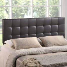 Lily Full Vinyl Headboard in Brown
