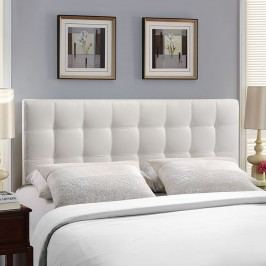 Lily King Vinyl Headboard in White