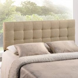 Lily Queen Fabric Headboard in Beige