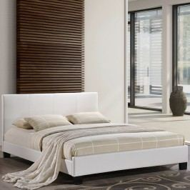 Alex Queen Vinyl Bed in White