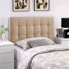 Lily Twin Fabric Headboard in Beige