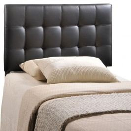 Lily Twin Vinyl Headboard in Black
