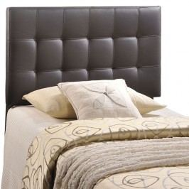 Lily Twin Vinyl Headboard in Brown