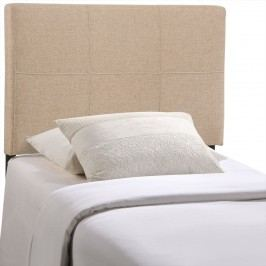 Oliver Twin Fabric Headboard in Beige